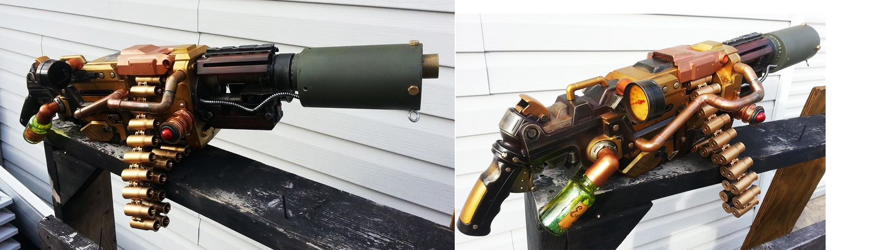 Steampunk Machine Gun Progress 2 by JohnsonArms