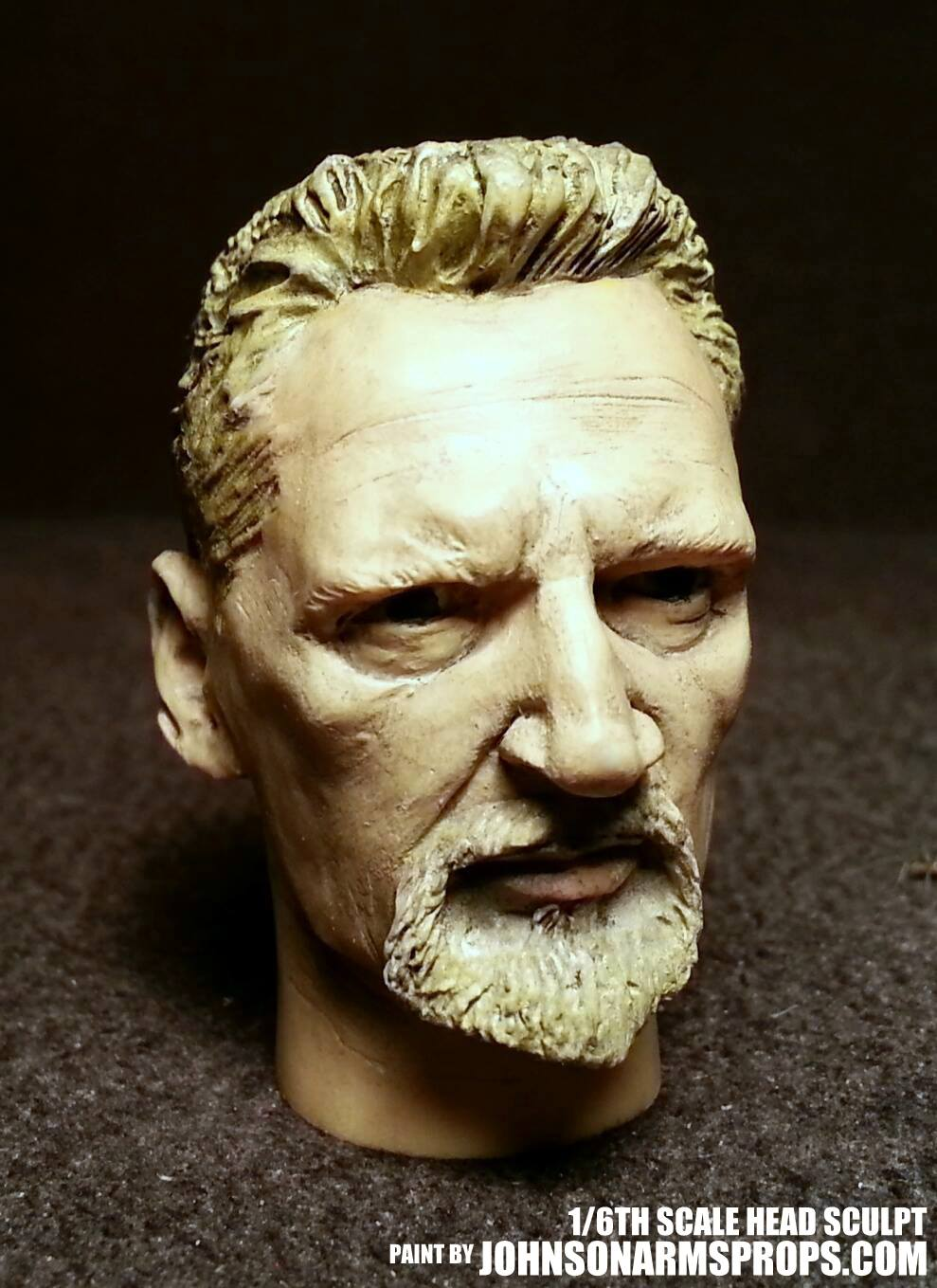 Liam Neeson 1/6th Scale Sculpt Paintjob by JohnsonArms