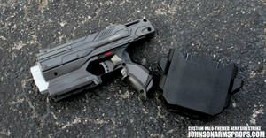 Custom Halo-themed NERF Sidestrike by JohnsonArmsProps