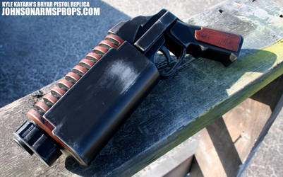 Kyle Katarn's Bryar Pistol Replica from a 3D Print by JohnsonArmsProps