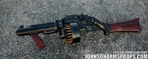 Diesel Punk Style Tommy Gun Prop