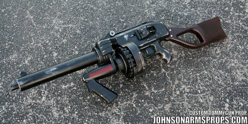 Diesel Punk Style Tommy Gun Prop 2 May 2014 by JohnsonArmsProps
