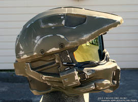 Halo 4 Master Chief Replica Helmet - Side View by JohnsonArmsProps