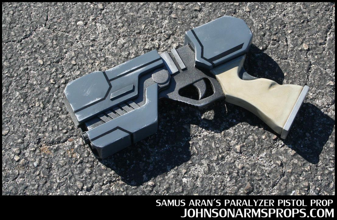 Samus Aran's Paralyzer Pistol Prop by JohnsonArms