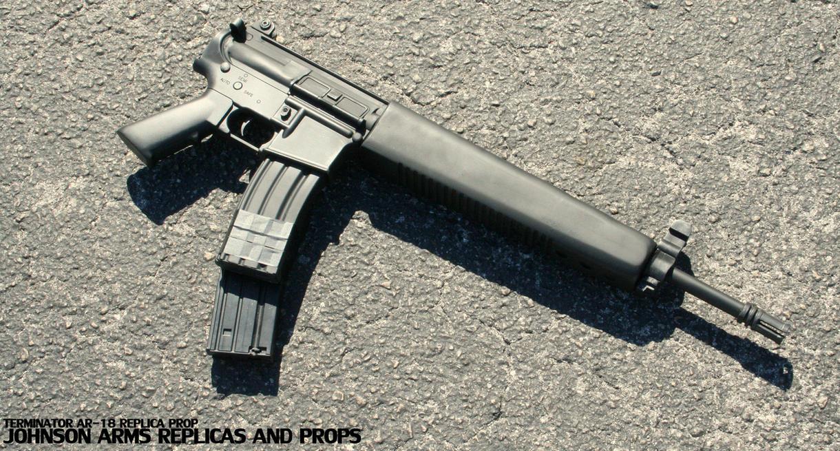 Terminator AR-18 Replica Prop by JohnsonArms