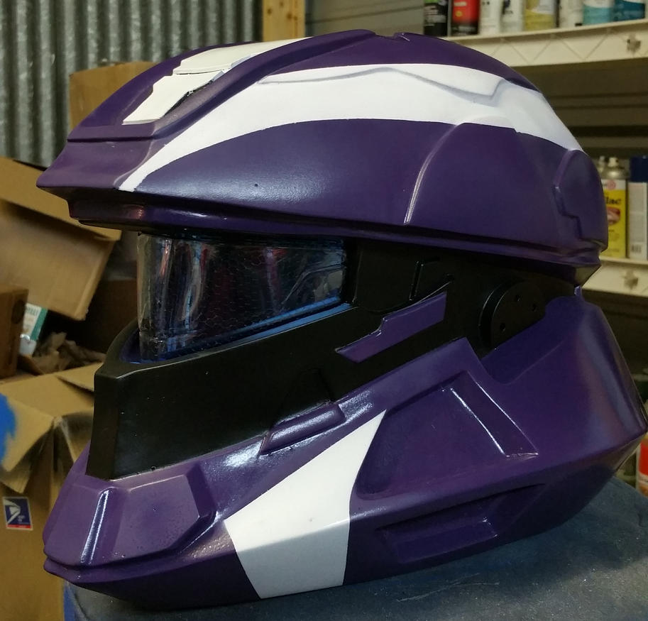 Halo 4 Scout Helmet Replica in Purple by JohnsonArms