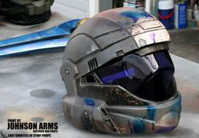 Battle-worn Halo ODST Helmet Replica by JohnsonArmsProps