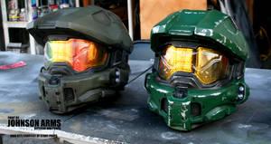 Halo 4/5 Master Chief Helmet Replicas by JohnsonArmsProps