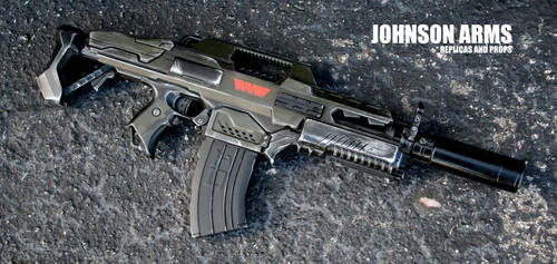 Custom Weyland Corp Nerf Rapidstrike by JohnsonArmsProps