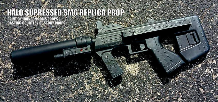HALO Suppressed SMG Replica Prop by JohnsonArms