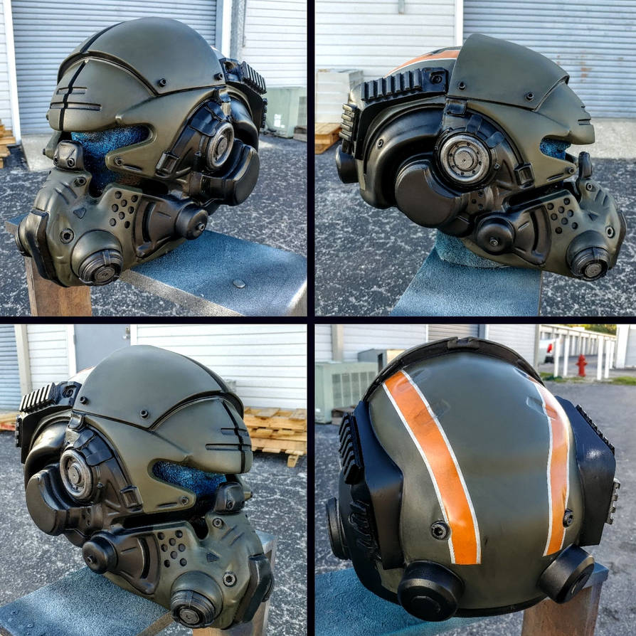[Progress] TitanFall 2 Vanguard Helmet Replica by JohnsonArmsProps