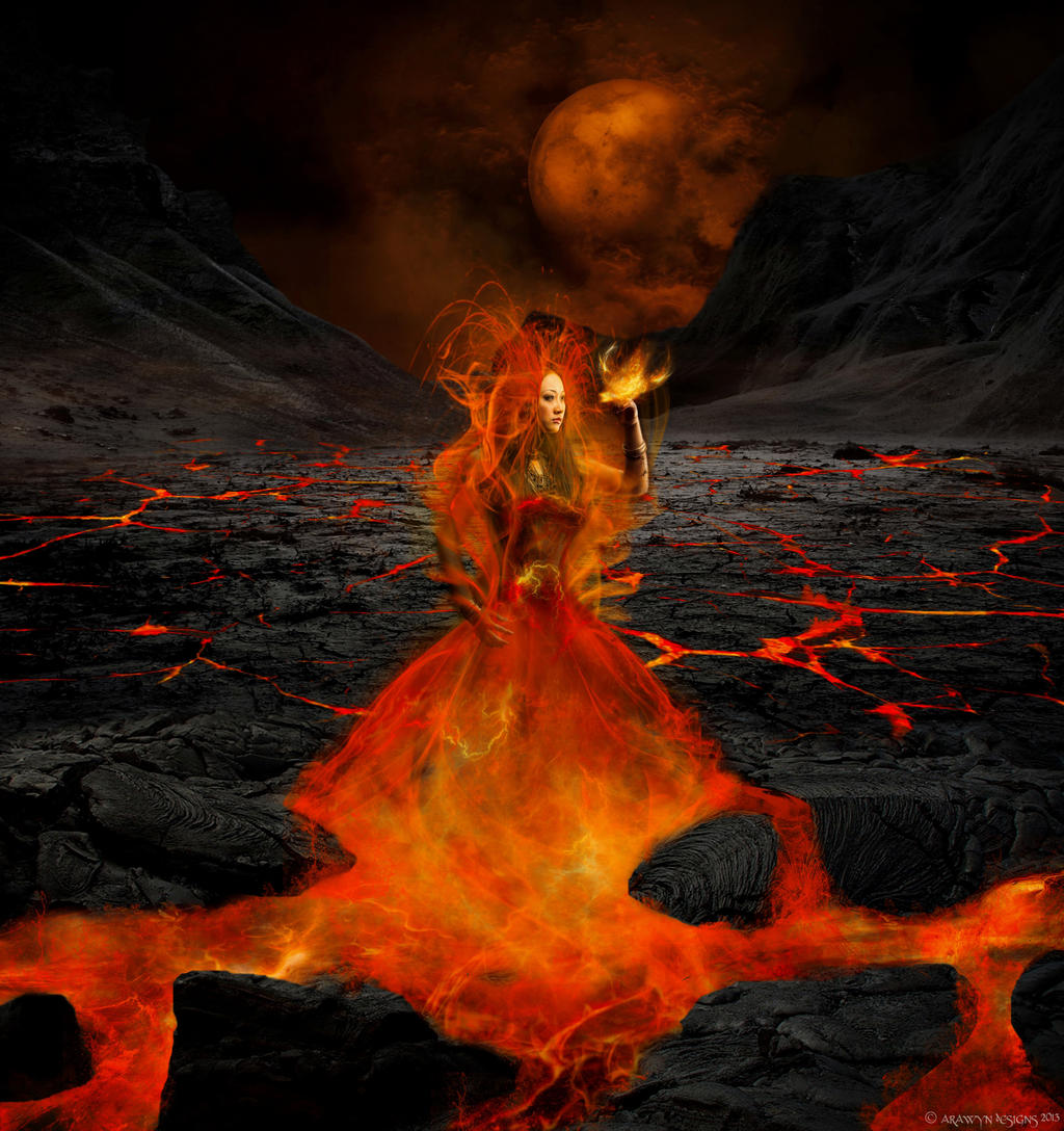 Pele - Hawaiian Volcano Goddess by arawyndesigns