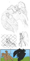 The Divine sketches by NightMagican