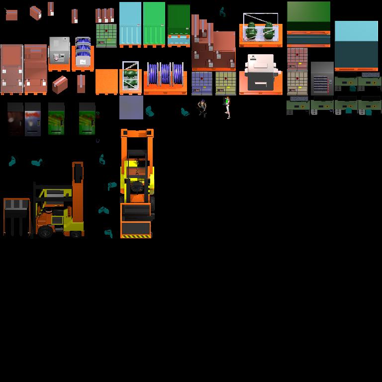 RPG maker MV: floor objects tileset in WFC style  by Puffolotti4iji