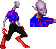 Ansaksie studio for 3d comics 1: anatomy and stanc by Puffolotti4iji