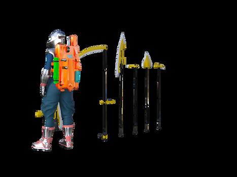 Vateilika's weapons (sci-fi weapon design)