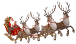 Santa Claus with Sleigh PNG Clipart Image by pngchristian