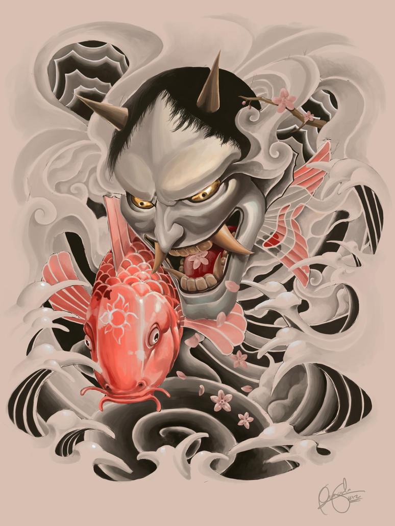 Oriental design by wizyakuza on deviantart - Poster mural noir et blanc ...