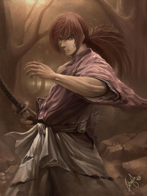 Kenshin Himura By Wizyakuza On Deviantart
