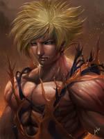 super saiyan Son Goku (dragon ball z) by wizyakuza