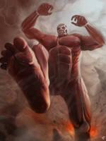Colossal Titan by wizyakuza