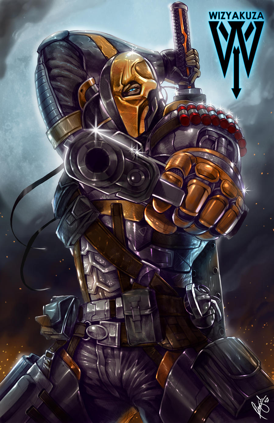 Deathstroke by wizyakuza