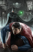 Batman vs superman by wizyakuza