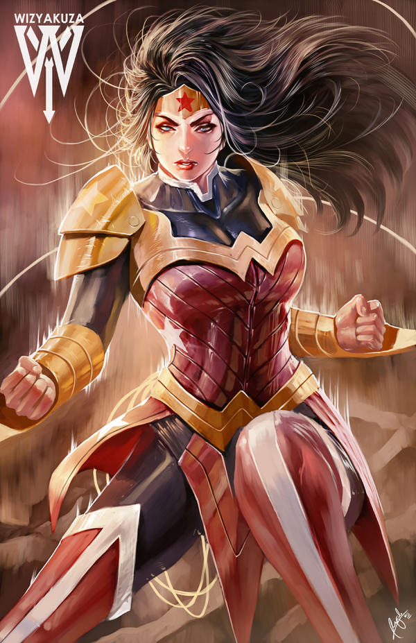 Wonder Woman - fan art by wizyakuza (Ceasar Ian Muyuela)