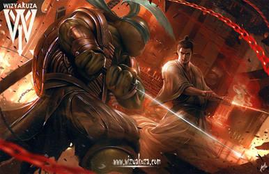 ninja vs samurai by wizyakuza