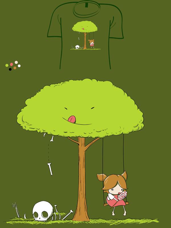 Kid Eating Tree