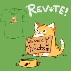 Woot Shirt - Work 4 Treats by fablefire