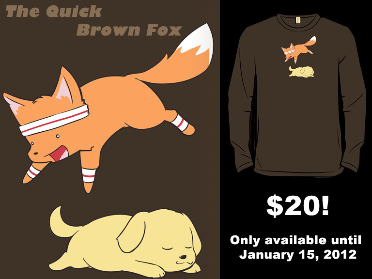 Woot Shirt - Quick Brown Fox by fablefire