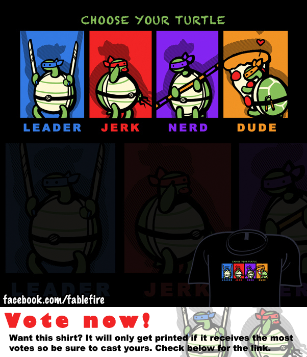 Woot Shirt - Choose Your Turtle by fablefire