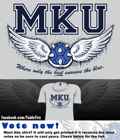 Woot Shirt - MKU: Only The Best Survive The Blue by fablefire