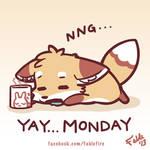 130916 - Yay Monday, Hangover Foxie