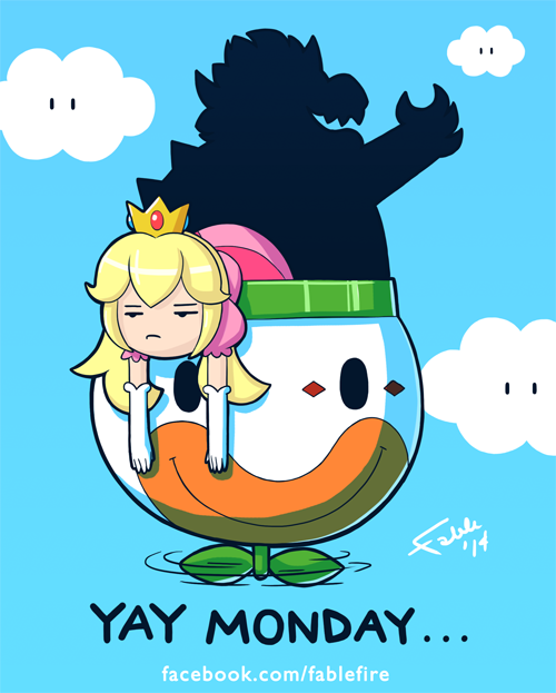 140414 - Yay Monday, Peach by fablefire