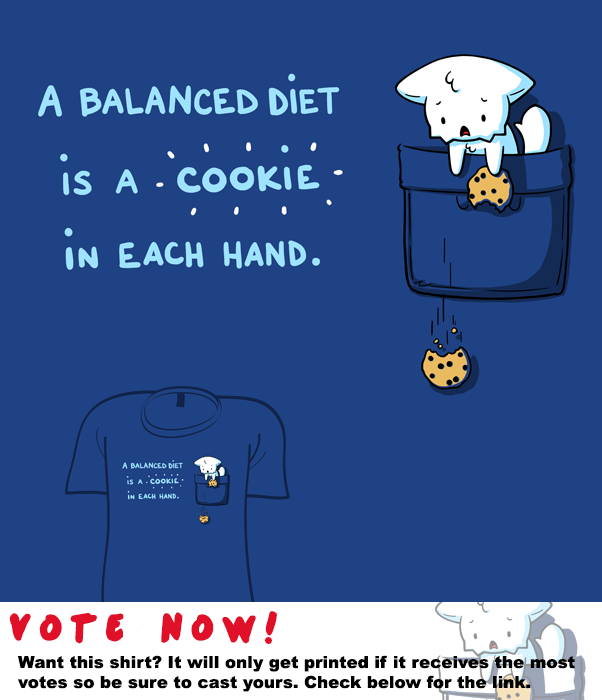 Woot Shirt - Cookie In Each Hand by fablefire