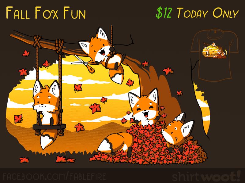 Woot Shirt - Fall Fox Fun (Printed!) by fablefire