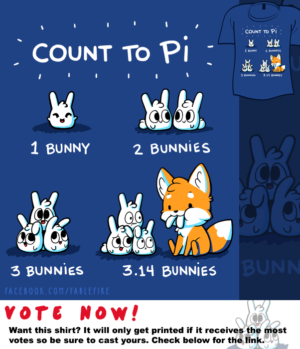 Woot Shirt - Count To Pi by fablefire