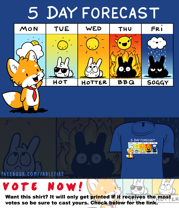 Woot Shirt - Sunny WIth A Chance Of BBQ by fablefire