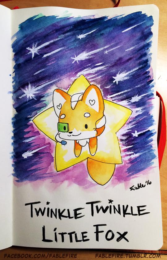 160422 Twinkle Twinkle Little Fox by fablefire