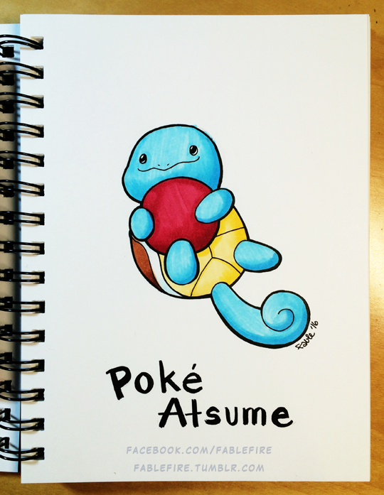 160923 Poke Atsume Squirtle by fablefire