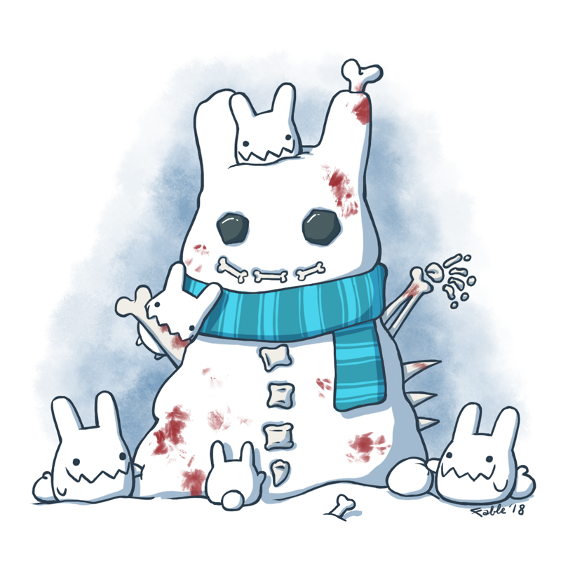 180110 Bony Snowman by fablefire