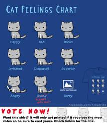 Woot Shirt - Cat Feelings Chart by fablefire