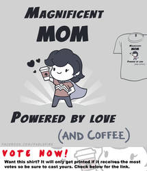 Woot Shirt - Powered By Love (And Coffee) by fablefire