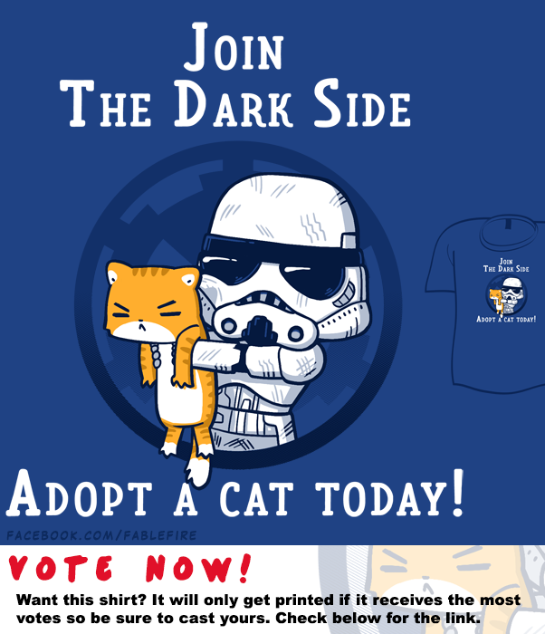 Woot Shirt - Adopt For The Dark Side by fablefire