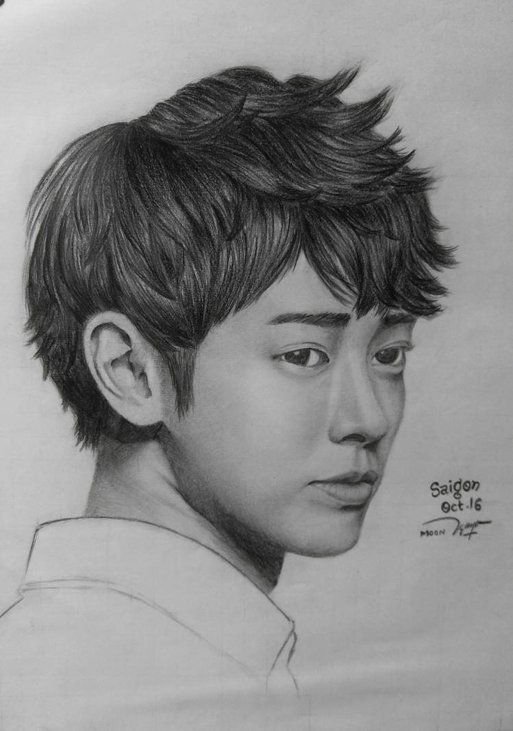 Jung joon young pencil drawing by kathylee3511