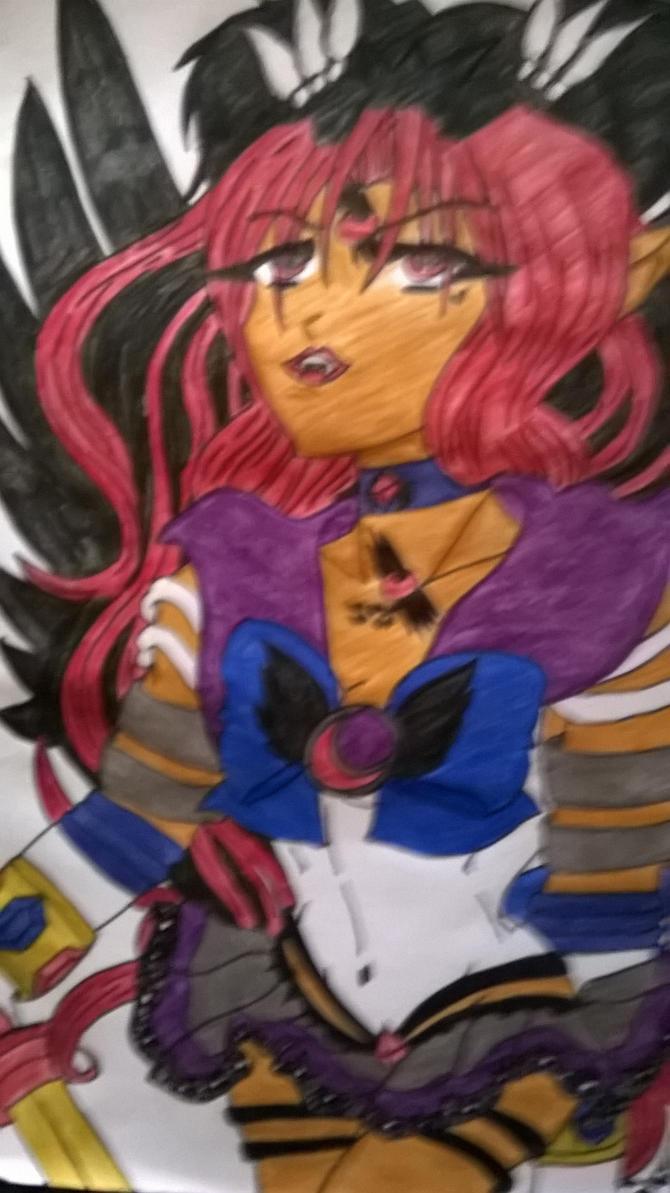 Starseed Hunter Sailor Blue Steele Moon by Tsunami-Hatro-yuki