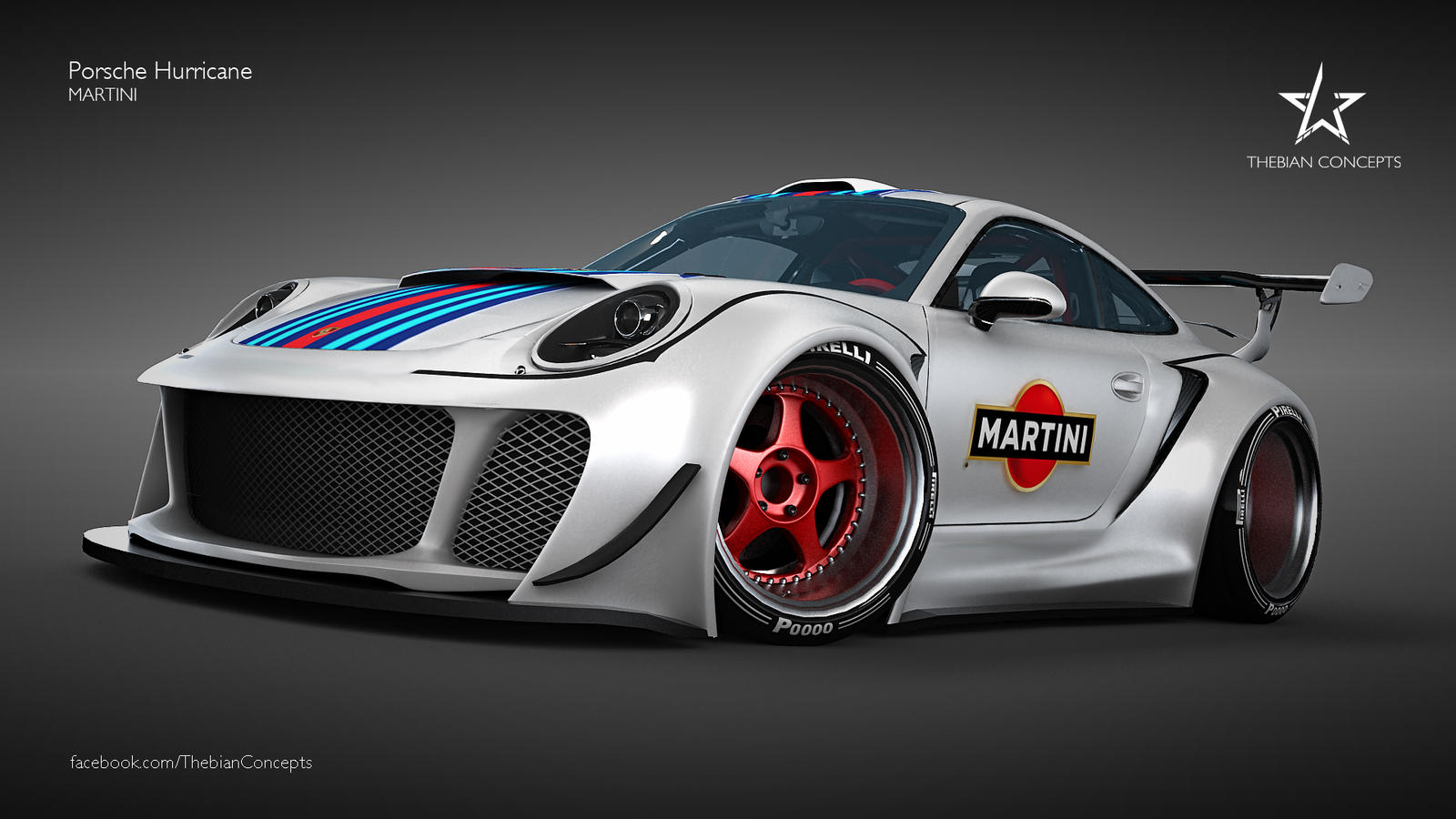 Monster Porsche Hurricane Concept Design: PORSCHE HURRICANE MARTINI By Mcmercslr On DeviantArt