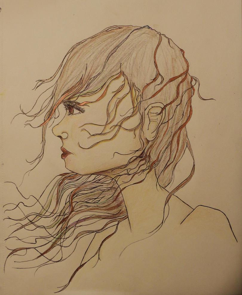 Wind in Hair by lavendercustard